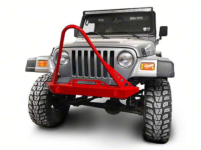 Steinjager Front Bumper with Stinger; Red Baron (97-06 Jeep Wrangler TJ)