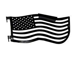 Steinjager Premium American Flag Front Trail Doors; Black (97-06 Jeep Wrangler TJ)