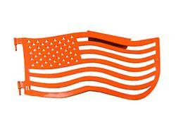 Steinjager Premium American Flag Front Trail Doors; Fluorescent Orange (97-06 Jeep Wrangler TJ)
