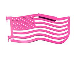Steinjager Premium American Flag Front Trail Doors; Hot Pink (97-06 Jeep Wrangler TJ)