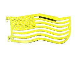 Steinjager Premium American Flag Front Trail Doors; Neon Yellow (97-06 Jeep Wrangler TJ)