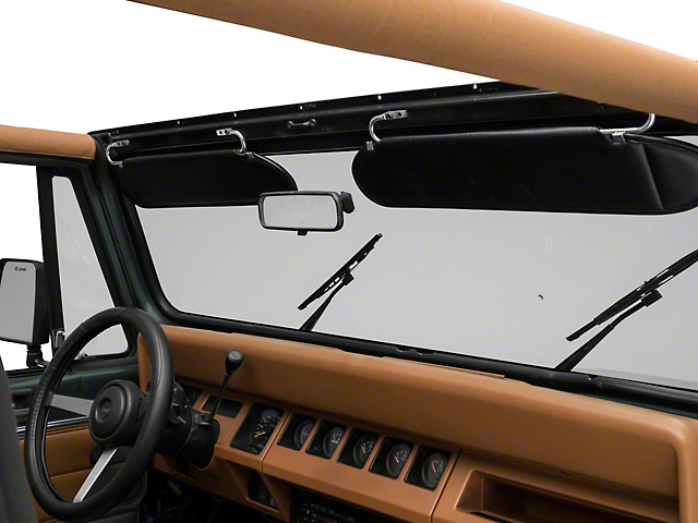 Rugged Ridge Replacement Sun Visors - Black (87-95 Jeep Wrangler YJ)