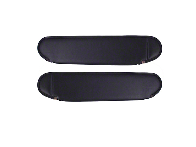 Rugged Ridge Sun Visors; Charcoal (87-95 Jeep Wrangler YJ)