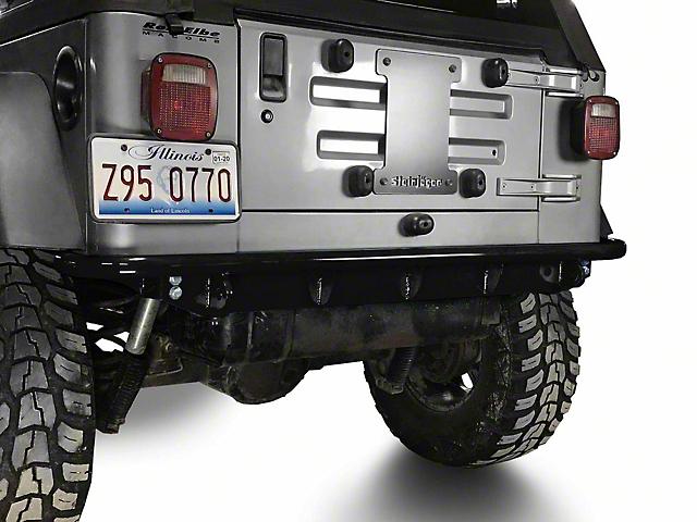 Steinjager Rear Bumper; Black (97-06 Jeep Wrangler TJ)