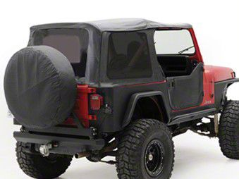 Smittybilt OEM Replacement Soft Top w/ Tinted Windows - Black Denim (87-95 Jeep Wrangler YJ w/ Factory Soft Top & Half Doors)
