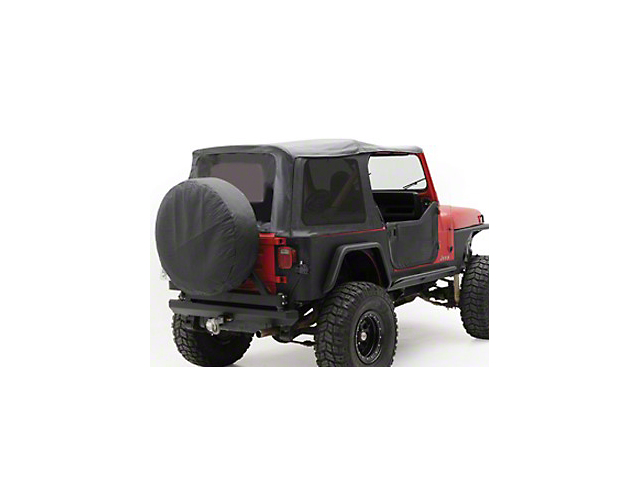 Smittybilt OEM Replacement Soft Top with Tinted Windows; Black Denim (87-95 Jeep Wrangler YJ w/ Factory Soft Top & Half Doors)