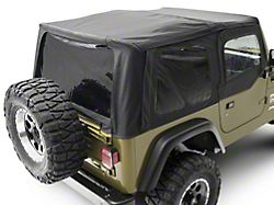 Smittybilt Replacement Top with Tinted Windows and Upper Door Skins; Black Denim (97-06 Jeep Wrangler TJ w/ Factory Soft Top, Excluding Unlimited)