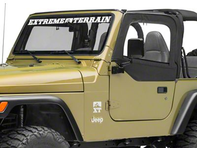 Smittybilt Replacement Upper Door Skin w/ Frame - Driver Side (97-06 Jeep Wrangler TJ)