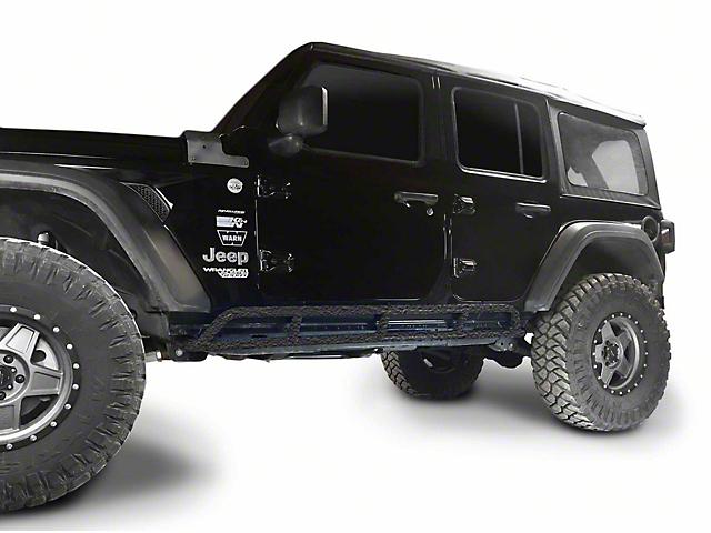 Steinjager Rock Sliders; Texturized Black (18-21 Jeep Wrangler JL 4 Door)