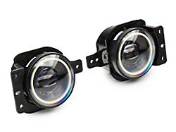 Oracle High Performance 20W LED Fog Lights with White Halo (18-21 Jeep Wrangler JL Sport)