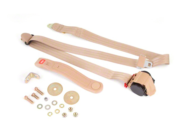 Omix-ADA Retractable 3-Point Seat Belt - Tan (87-95 Wrangler YJ)