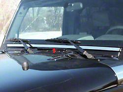 Windshield Accent Trim; 1 Piece; Stainless Steel (07-18 Jeep Wrangler JK 4-Door)