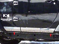 Rocker Panel Trim; 4 Piece on Rocker; Stainless Steel (07-18 Jeep Wrangler JK 2-Door)