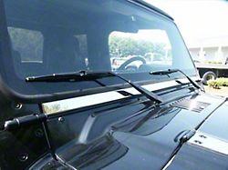 Windshield Accent Trim; 1 Piece; Stainless Steel (97-06 Jeep Wrangler TJ)