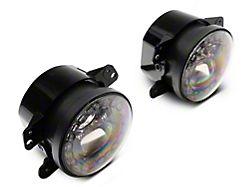 Axial Nighthawk LED Fog Lights (07-18 Jeep Wrangler JK; 18-21 Jeep Wrangler JL Sahara, Rubicon w/ Plastic Bumper)