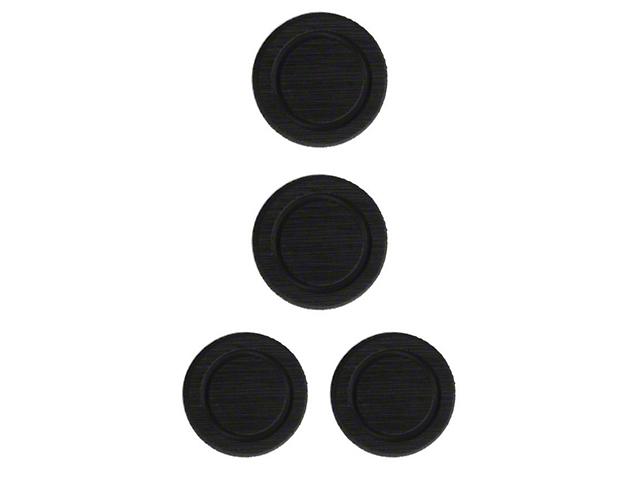 Interior Cup Holder Foam Inserts; Black/Black (07-18 Jeep Wrangler JK)