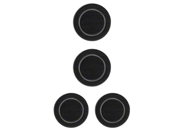 Interior Cup Holder Foam Inserts; Black/Gray (07-18 Jeep Wrangler JK)
