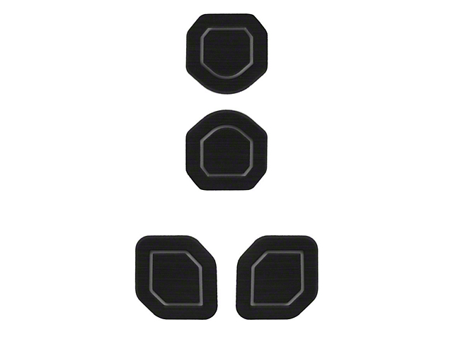 Interior Cup Holder Foam Inserts; 4-Piece Kit; Black/Gray (18-21 Jeep Wrangler JL)