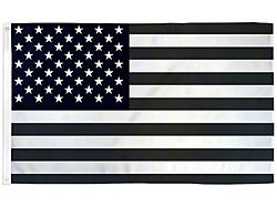 3-Foot x 5-Foot USA Flag; Black and White