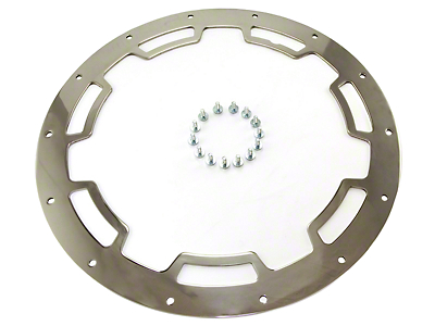 Rugged Ridge Rim Protector Polished Stainless Steel For 17X9 Wheel (07-17 Wrangler JK)