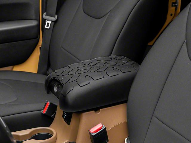RedRock 4x4 Treaded Center Console Cover; Black (11-18 Jeep Wrangler JK)