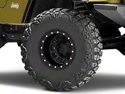 Mammoth D-Window Simulated Beadlock Matte Black Wheel; 15x10 (97-06 Jeep Wrangler TJ)