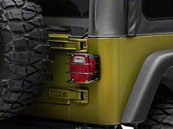 RedRock 4x4 Euro Tail Light Guards; Black (87-06 Jeep Wrangler YJ & TJ)