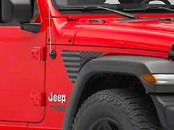 SEC10 Fender Vent Decals; American Flag (18-21 Jeep Wrangler JL)