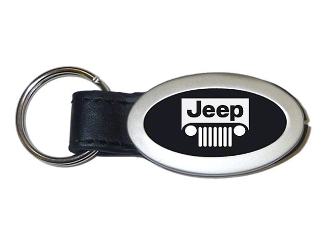 Key Chain; Jeep Grill Oval Key Fob
