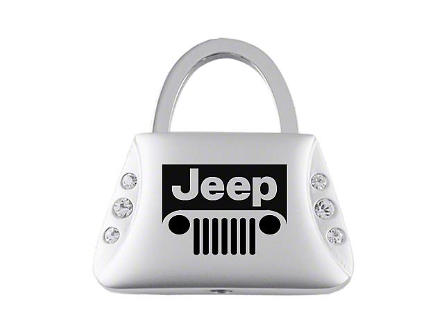 Key Chain; Jeep Grill Jeweled Purse Key Fob