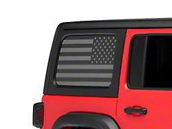 Under the Sun Hard Top Rear Side Window Decals; Black Out (07-21 Jeep Wrangler JK & JL 4-Door)