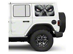 Under the Sun Hard Top Rear Side Window Decals; Skull Face (07-21 Jeep Wrangler JK & JL 4-Door)