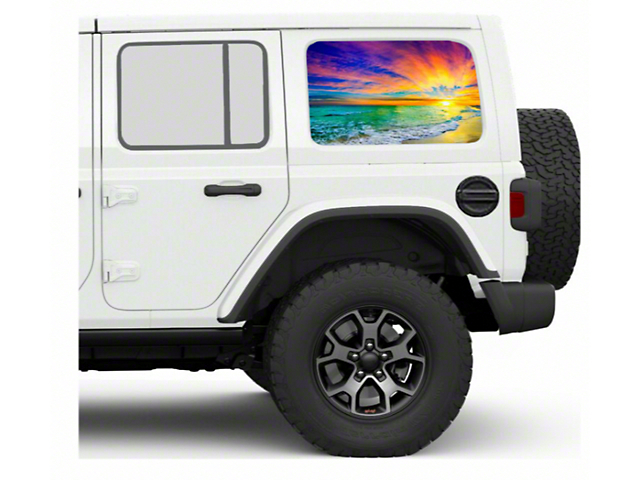 Under the Sun Hard Top Rear Side Window Decals; Sunset (07-21 Jeep Wrangler JK & JL 4 Door)
