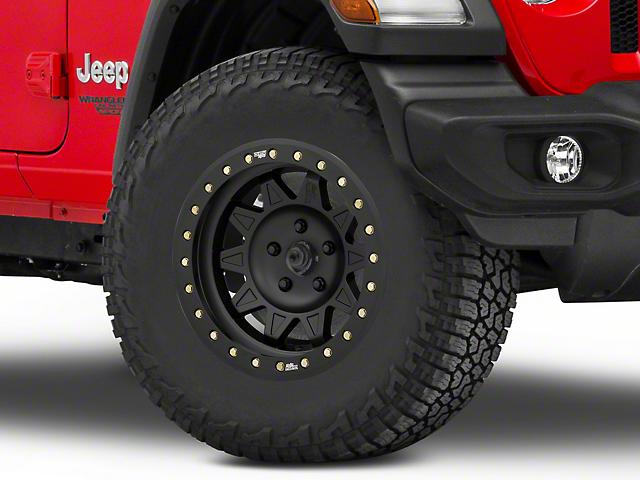 Dirty Life Roadkill Race Matte Black Beadlock Wheel; 17x9 (20-21 Jeep Gladiator JT)