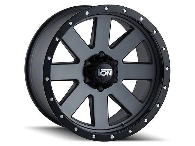 ION Wheels TYPE 134 Matte Gunmetal Wheel; 17x8.5 (20-21 Jeep Gladiator JT)