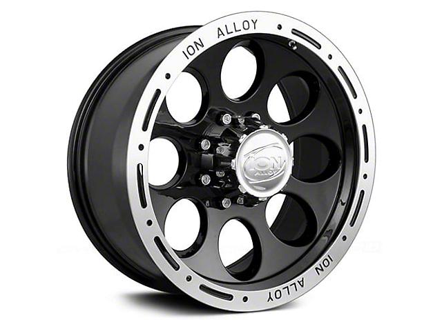 ION Wheels TYPE 174 Black Machined Wheel; 17x9 (20-21 Jeep Gladiator JT)