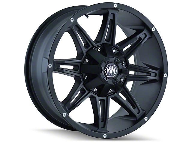 Mayhem Wheels Rampage Matte Black Wheel; 17x9 (18-21 Jeep Wrangler JL)