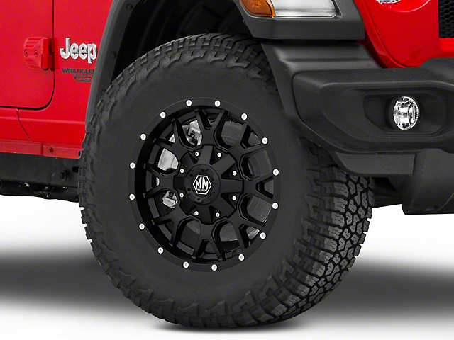 Mayhem Wheels Warrior Matte Black Wheel; 17x9 (18-21 Jeep Wrangler JL)