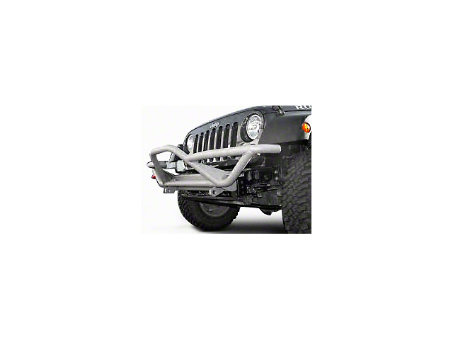 Rugged Ridge RRC Front Bumper with Grille Guard; Titanium (87-06 Jeep Wrangler YJ & TJ)