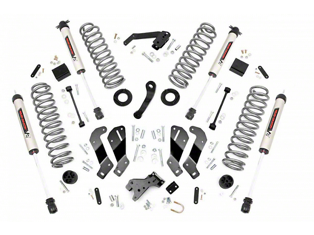 Rough Country 3.50-Inch Control Arm Drop Suspension Lift Kit with V2 Monotube Shocks (07-18 Jeep Wrangler JK 2 Door)