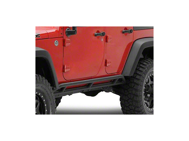 Smittybilt SRC Rocker Guards - Black Textured (07-18 Wrangler JK 4 Door)