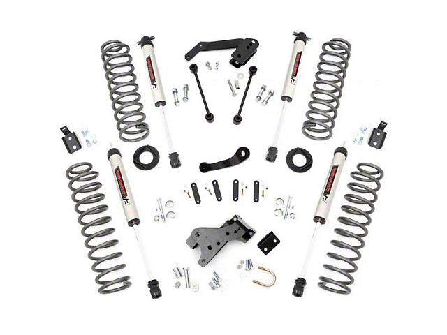 Rough Country 4-Inch Suspension Lift Kit with V2 Monotube Shocks (07-18 Jeep Wrangler JK 2 Door)