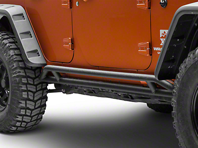 Smittybilt SRC Rock Crawler Rocker Guards (07-18 Wrangler JK 2 Door)