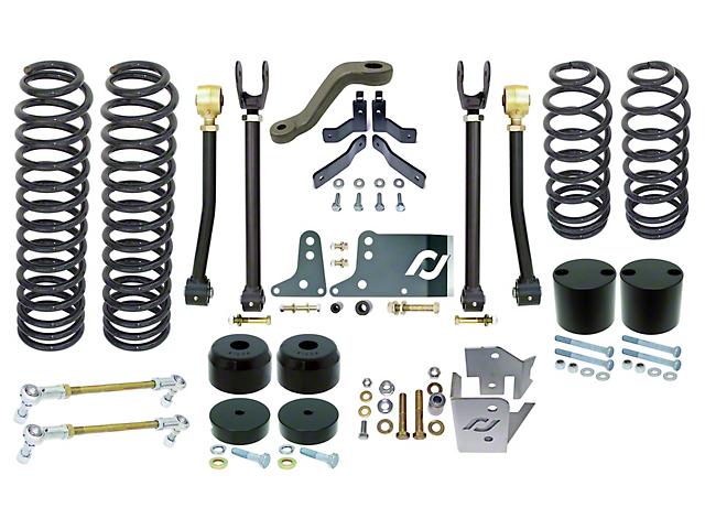 RockJock Johnny Joint 4-Inch Standard Suspension Lift Kit (07-18 Jeep Wrangler JK 2 Door)
