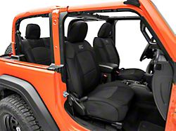 Rough Country Neoprene Front and Rear Seat Covers; Black (18-21 Jeep Wrangler JL 2-Door)