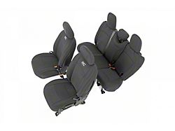 Rough Country Neoprene Front and Rear Seat Covers; Black (18-21 Jeep Wrangler JL 4-Door w/ Rear Arm Rest)