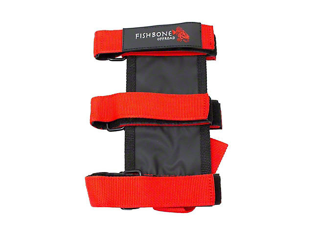 Fishbone Offroad Padded Roll Bar Fire Extinguisher Holder; Red