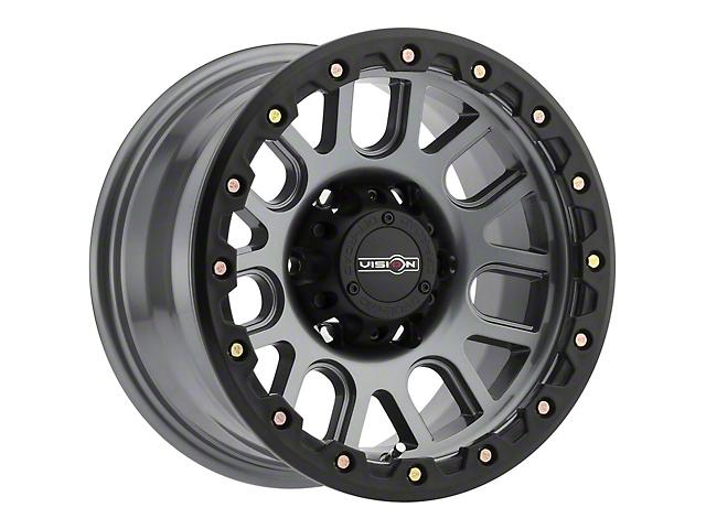 Vision Off-Road 111 Nemesis Gunmetal Wheel; 17x9 (07-18 Jeep Wrangler JK)