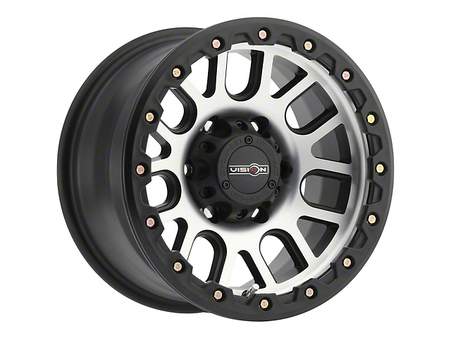 Vision Off-Road 111 Nemesis Matte Black Machined Wheel; 17x9 (07-18 Jeep Wrangler JK)