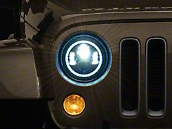 Axial 7-Inch LED Headlights with RGB Halo; Black Housing; Clear Lens (97-18 Jeep Wrangler TJ & JK)